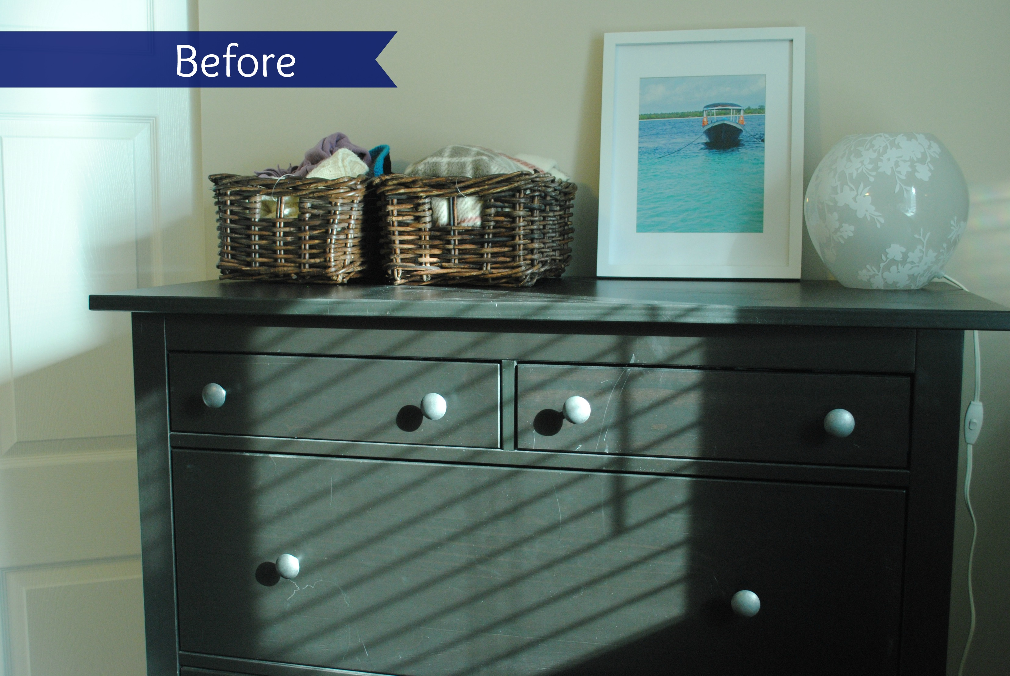 Hemnes dresser hack dresser before dresser after side by side