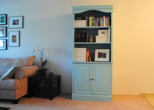 Blue hutch front