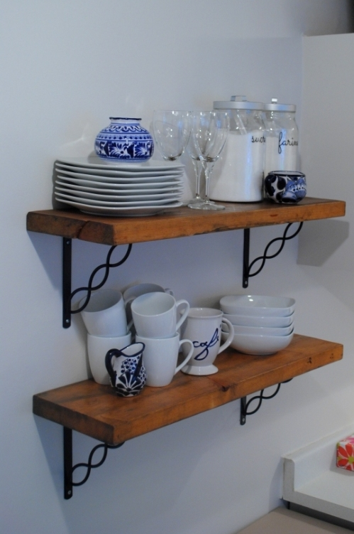 Salvaged open shelving