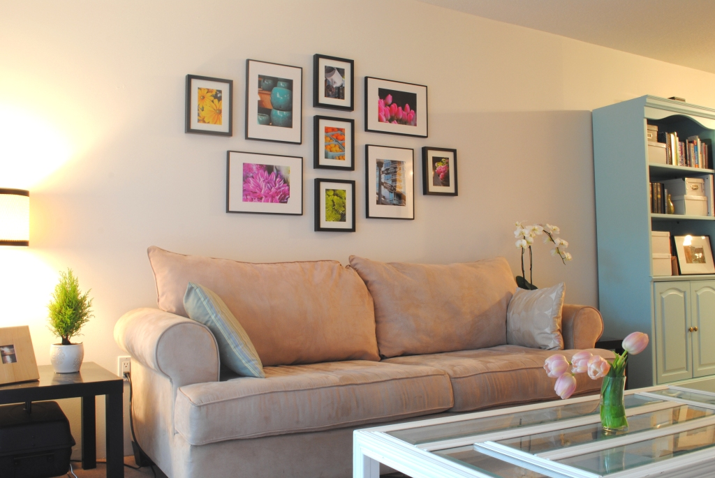 gallery wall and how to hang ikea ribba frames