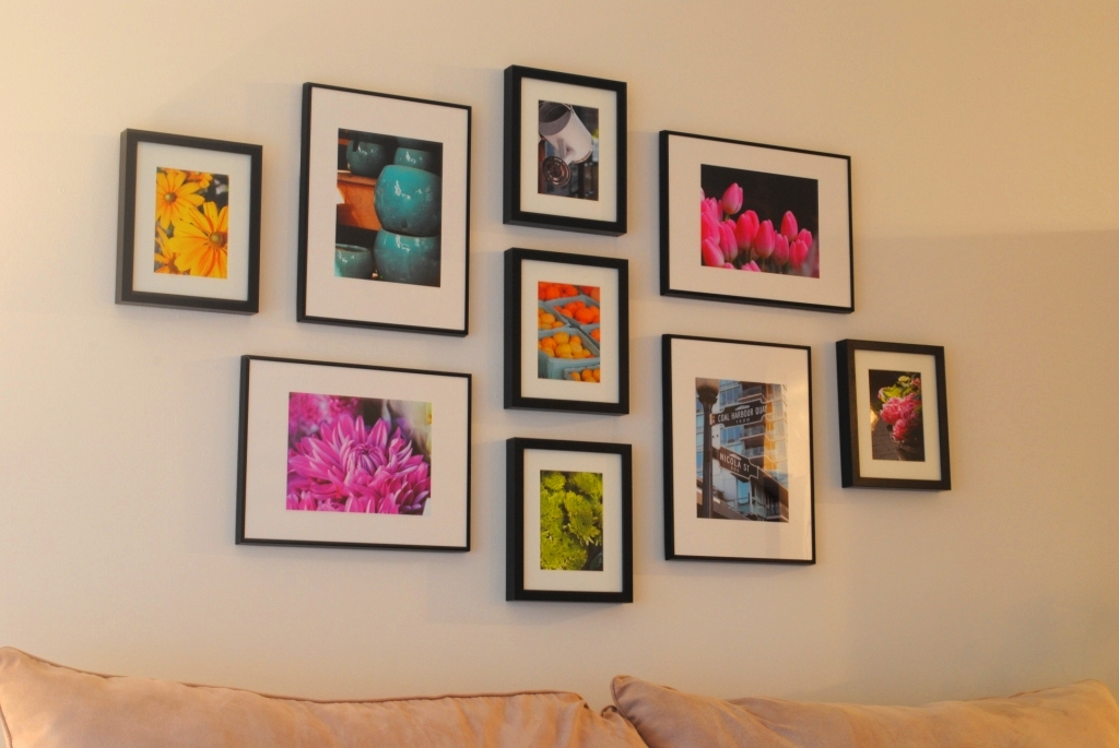 gallery wall and how to hang ikea ribba frames l 39 amour chez nous. Black Bedroom Furniture Sets. Home Design Ideas