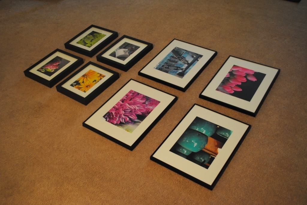 Gallery Wall (and How To Hang Ikea Ribba Frames) | L'amour