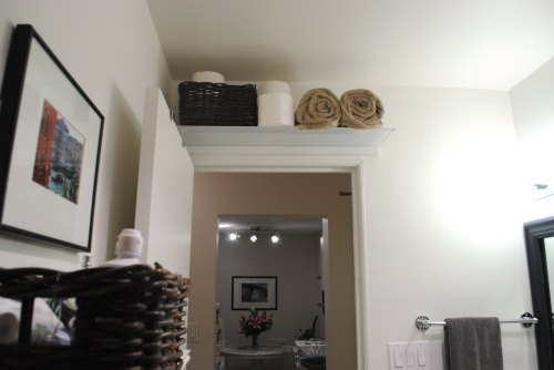 Above door shelf