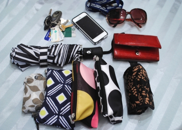 An organized purse