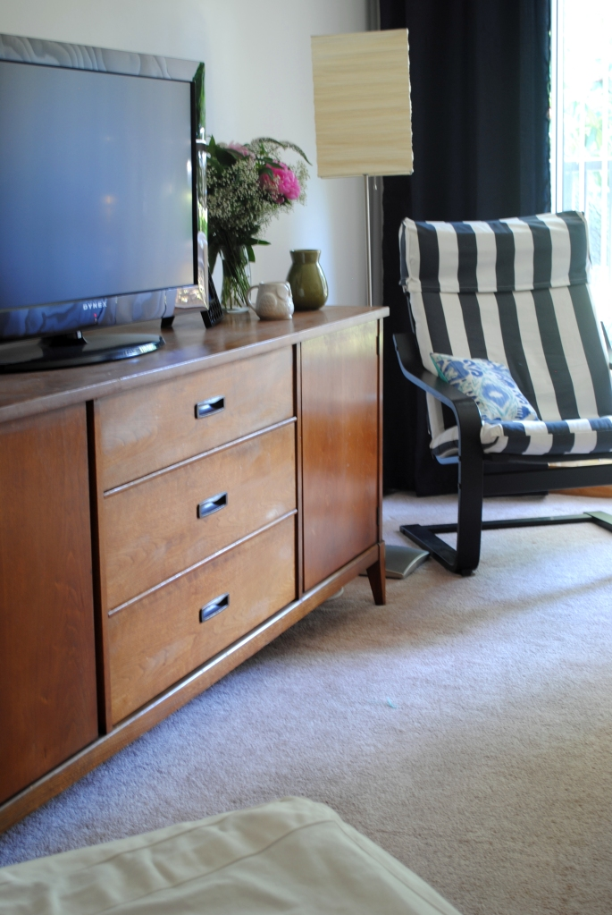 Credenza and poang chair