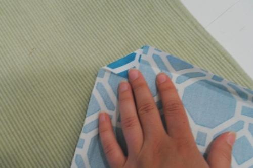 Fold corners