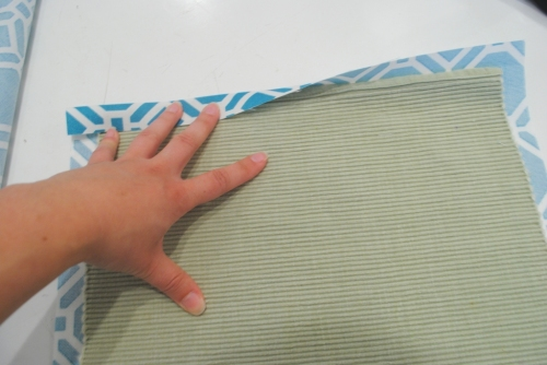 Fold sides in sides for a hem