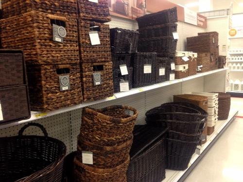 Pretty woven storage baskets