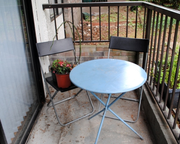 Patio furniture before